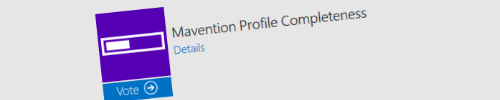 Mavention Profile Completeness App Award Finalist header image
