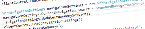 WebNavigationSettings and CSOM header image