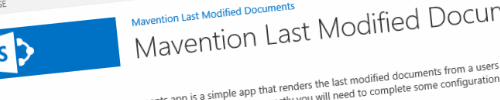 Update for Mavention Last Modified Documents available header image