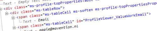 Unconfigurable Profile Info web part header image