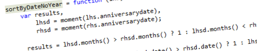 Sorting dates without year in JavaScript header image