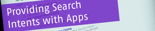 Slidedeck for Search Intents with Apps from SPCon14 available