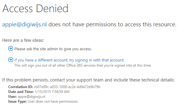 Access Denied with custom script disabled