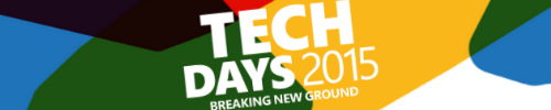 Slides for the TechdaysNL 2015 available