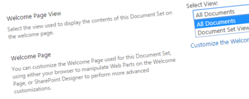 The Content Type Hub and Document Set Views