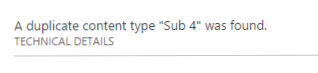 Duplicate Content Type Error