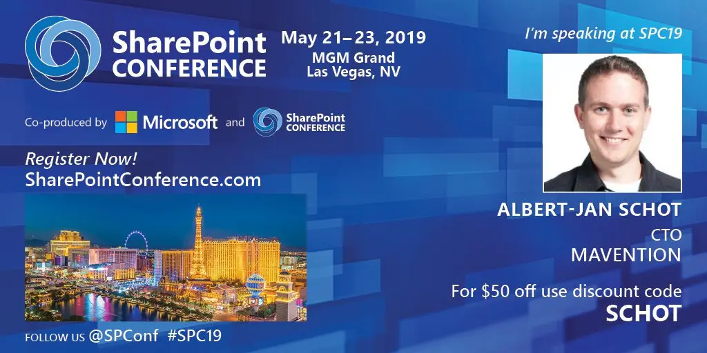 Speaking at the SharePoint Conference 2019 header image