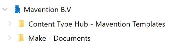 Mavention OneDrive old scenario