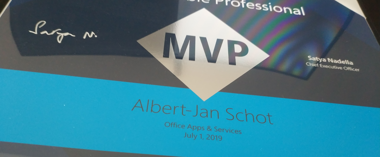 Office Apps & Services MVP 209 award header image