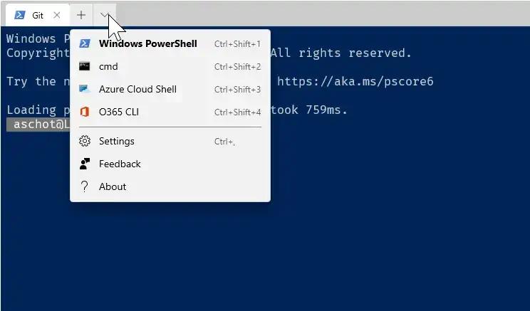 Windows Terminal Profile for O365 CLI header image