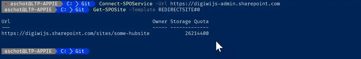 Redirect result with PowerShell