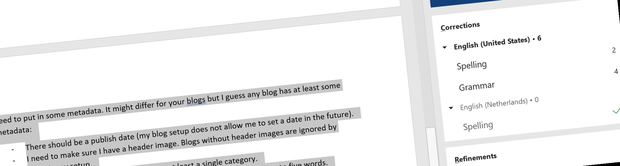 My blog checklist header image