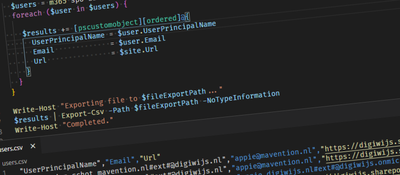 Export external users with CLI for Microsoft 365 header image